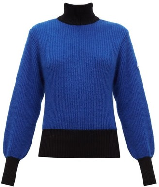 Fusalp Muzelle High-neck Ribbed-knit Sweater - Navy