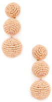 Kenneth Jay Lane Double Seed Bead Wrapped Ball & Dome Top Drop Earrings