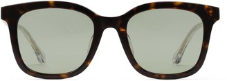 Gucci Specialized fit square acetate sunglasses
