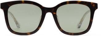 Gucci Specialized fit square acetate sunglasses