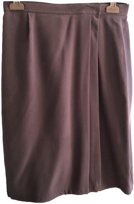 Hermes Navy Silk Skirts