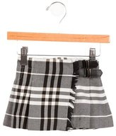 Burberry Girls' Nova Check Pleated Skirt