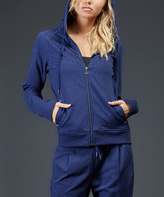 Zobha Heather Prussia Murphy Essential Fleece Zip-Up Jacket