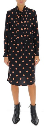 Tory Burch Polka Dot Printed Pussy Bow Dress
