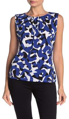Calvin Klein Geo Print Pleated Neck Cami