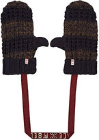 Scotch R'Belle STRIPED RIB-KNIT MITTENS