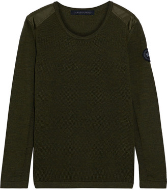 Canada Goose Magdalen Shell-trimmed Merino Wool Sweater