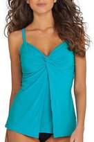 Miraclesuit Solid Love Knot Tankini Top DD-Cups,DD