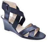Adrienne Vittadini Raenie Leather Wedge Sandals