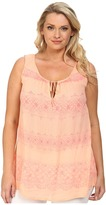 DKNY Printed Lace Tank Top
