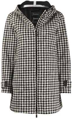 Herno houndstooth hooded jacket
