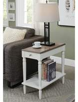 Andover Mills Ariella End Table with Storage Color: Driftwood/White