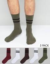 Asos Tube Style Socks 5 Pack