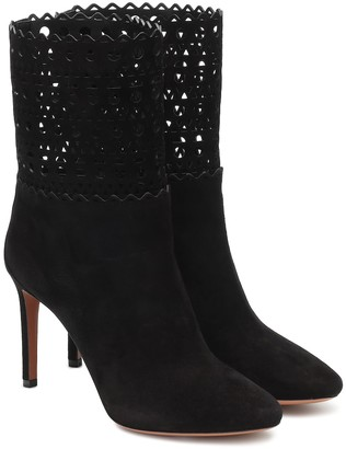 Alaia Suede ankle boots