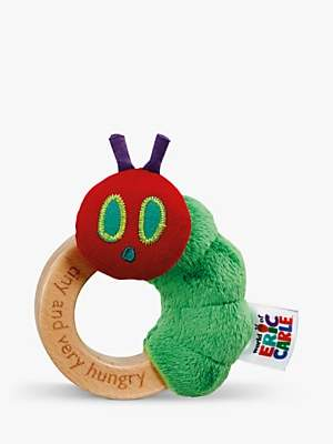 Rainbow Designs Very Hungry Caterpillar Tiny Soft Ring Rattle, Multi