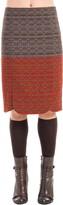 Max Studio Woven Jacquard Slim Skirt