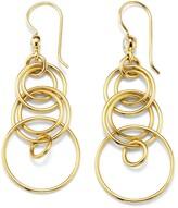 Ippolita 18kt yellow gold small Classico smooth Jet Set diamond earrings