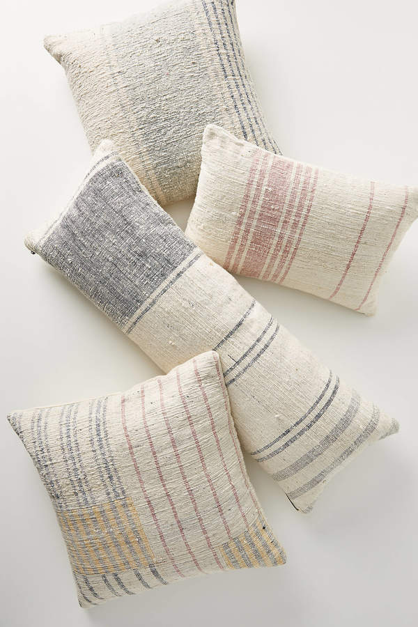 Anthropologie Handwoven Dylan Pillow By in Black Size 14 X 40