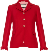 Gucci Ruffle-trimmed wool and silk-blend jacket