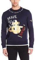 Vivienne Westwood Men's Sketched Orb Printed Felpa Sweatshirt