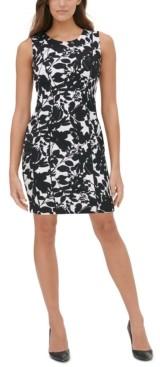 Tommy Hilfiger Garden-Printed Scuba Crepe Sheath Dress