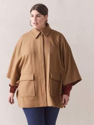 Hi-Low Wool Cape - Addition Elle