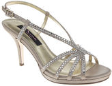 Nina Bobbie Rhinestone Sandal Heels