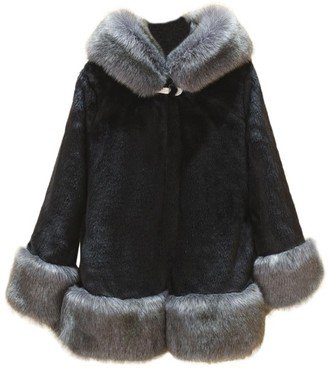 HOMEBABY Women Faux Fox Fur Coat Winter Warm Fur Parka Coat Outwear Plus Size 8 10 12 14 16 18 20 22 24 (16-XXL