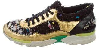 Chanel Metallic Bouclé Sneakers