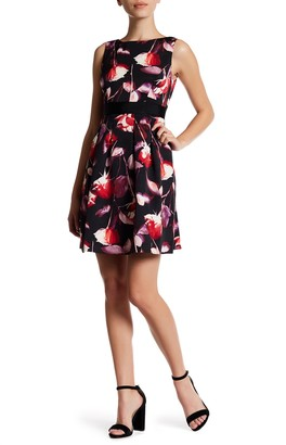 Adrianna Papell Floral Fit & Flare Dress (Regular, Petite & Plus)