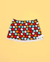 AZUL SWIMWEAR Azul Swimwear Girls' Spot On Brown A-Line Skirt (Xxs-M)