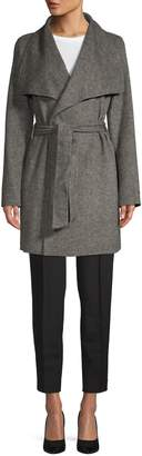 Tahari Ella Double-Faced Wrap Coat