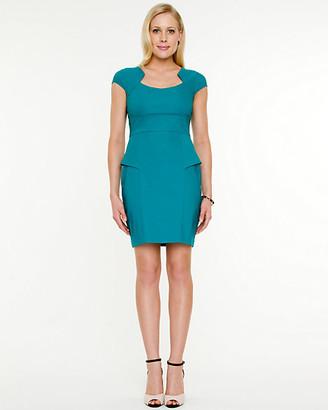 Le Château Tech Stretch Peplum Dress