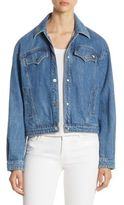 J Brand Debbie Snap Front Denim Jacket