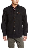 Carhartt Men's Big & Tall Weathered Canvas Shirt Jacket Snap Front
