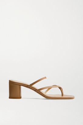 AEYDĒ Larissa Leather Mules - Tan
