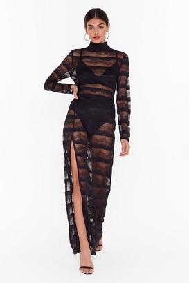 Nasty Gal Womens Studio Dancing in the Dark Lace Dress - Black - 6, Black