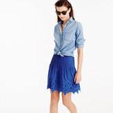 J.Crew Eyelet floral mini skirt