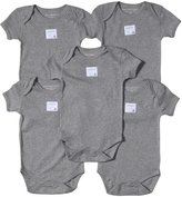 Burt's Bees Baby 5 Pack Essentials Solid Bodysuits (Baby)-Heather-Preemie
