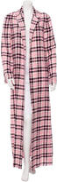 MSGM Plaid Long Coat w/ Tags