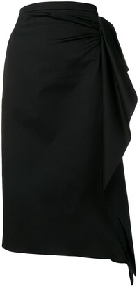 Rochas Draped Pencil Skirt