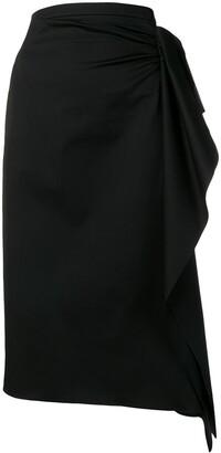 Rochas draped pencil skirt