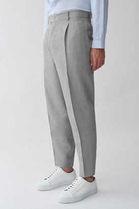 Cos Linen Tapered Leg Trousers