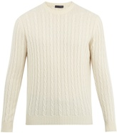THOM SWEENEY Crew-neck cable-knit cashmere sweater