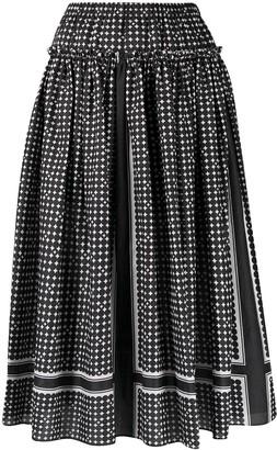 Steffen Schraut Spot-Print Flared Skirt