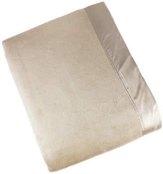 Melange Home Plaza Twin Silk Blanket With 100% Silk Border Bedding