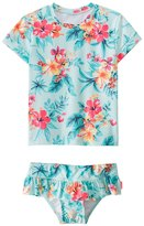 Seafolly Girls' Luau Lu Lu Rashguard Set (2T6X) - 8148040