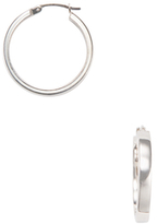 Candela 14K White Gold Square Hoop Earrings