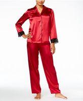 Thalia Sodi Satin Contrast-Trimmed Pajama Set, Created for Macy's