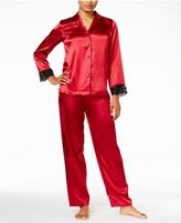 Thalia Sodi Satin Contrast-Trimmed Pajama Set, Only at Macy's